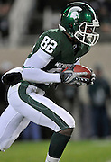 Oct 24, 2009; East Lansing, MI, USA; Michigan State wide receiver Keshawn Martin (82) during the fourth quarter against Iowa Hawkeyes at Spartan Stadium. The Hawkeyes beat the Spartans 15-13. Mandatory Credit: Jason Miller-US PRESSWIRE