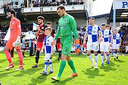 Mascot walk out - Mandatory by-line: Dougie Allward/JMP - 14/04/2018 - FOOTBALL - Memorial Stadium - Bristol, England - Bristol Rovers v Blackburn Rovers - Sky Bet League One