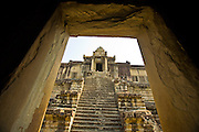 19 MARCH 2006 - SIEM REAP, SIEM REAP, CAMBODIA: The upper most level of the main Angkor Wat complex near Siem Reap, Cambodia. Cambodian authorities estimate that more than one million tourists will visit Angkor Wat in 2006, making it the leading tourist attraction in Cambodia by a large margin.   Photo by Jack Kurtz