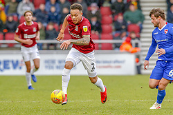 January 26, 2019 - Northampton, Northamptonshire, United Kingdom - Northampton Town's Shay Facey during the first half of the Sky Bet League 2 match between Northampton Town and Morecambe at the PTS Academy Stadium, Northampton on Saturday 26th January 2019. (Credit Image: © Mi News/NurPhoto via ZUMA Press)