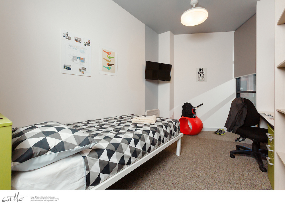 Sample residence rooms at the University of Sydney, taken on Tuesday 2 December, 2014.