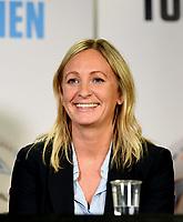 Fotball , 27. september 2017 , Eliteserien og Toppserien har fått felles ligaball , <br />  Hege Jørgensen