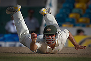 Australia's Phil Jaques celebrates after he caught out West Indies' Xavier Marshall during the third cricket test in Bridgetown, Barbados. (2008)