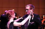 Paul Peters of Oakwood and Kjirsten Frank of Dayton dance to the music of the Dayton Philharmonic Orchestra and Bob Gray Orchestra during the Dayton Performing Arts Alliance Inaugural Gala at the Schuster Center in downtown Dayton, Saturday, October 5, 2013.