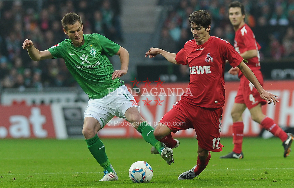 05.11.2011, Weserstadion, Bremen, GER, 1.FBL, Werder Bremen vs 1. FC Köln / Koeln, im Bild Markus Rosenberg (Bremen #11), Henrique Sereno (Koeln #17)..// during the match Werder Bremen vs 1. FC Koeln on 2011/11/05, Weserstadion, Bremen, Germany..EXPA Pictures © 2011, PhotoCredit: EXPA/ nph/  Frisch       ****** out of GER / CRO  / BEL ******