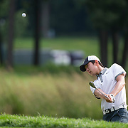 August 22, 2014:   Seung-Yul Noh (KOR) chips onto the green during the second round of The Barclays Fed Ex  Championship at Ridgewood Country Club in Paramus, NJ. Mandatory Credit:  Kostas Lymperopoulos/csm  (Credit Image: © Kostas Lymperopoulos/Cal Sport Media)