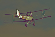 "A Tigermoth cruises above Hood Aerodrome, New Zealand. These flight demonstrations and static displays were part of the 2012 commemoration of ANZAC Day by The Vintage Aviator in Masterton, New Zealand. ANZAC (Australian and New Zealand Army Corps) Day is observed to remember ANZACs who served at Gallipoli during World War 1 and more generally all those who served and died for their countries. The Vintage Aviator Ltd is an aircraft restoration company and manufacturer based in New Zealand. On their website, thevintageaviator.co.nz, The Vintage Aviator list their primary aim as ""to build WW1 aircraft, engines and propellers to the same exacting standards they were originally made over 90 years ago"". The Vintage Aviator now boasts a fleet of WW1 aircraft including those originally made by Albatros, Fokker, Sopwith, Bristol, Nieuport and the Royal Aircraft Factory."