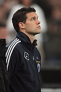 MICHAEL BALLACK DURING THE MINUTES SILENCE & ROBERT ENKE MEMORIAL FILM.GERMANY V IVORY COAST.GERMANY V IVORY COAST.VELTINS ARENA, GELSENKIRCHEN, GERMANY.18 November 2009.GAA3875..  .WARNING! This Photograph May Only Be Used For Newspaper And/Or Magazine Editorial Purposes..May Not Be Used For, Internet/Online Usage Nor For Publications Involving 1 player, 1 Club Or 1 Competition,.Without Written Authorisation From Football DataCo Ltd..For Any Queries, Please Contact Football DataCo Ltd on +44 (0) 207 864 9121