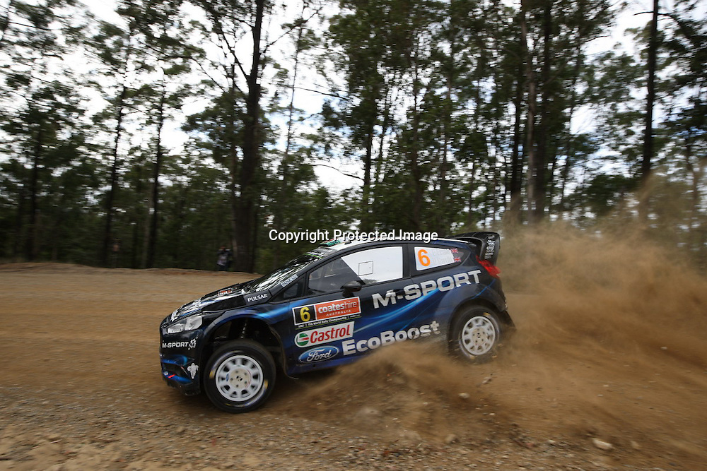 Elfyn Evans (GBR) during Special Stage 9, Rally Australia - Round 10 of the FIA World Rally Championship, Day 2, 13 September 2014. Photo: Alan McDonald/www.photosport.co.nz