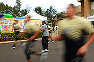 November 24 2015: Vanderbilt Commodores players find space in the parking lot to warm up before their semi-final game during the Maui Invitational at  Lahaina Civic Center on Maui, HI. (Photo by Aric Becker)