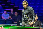 Action from the opening frames of the Quarter Final between Ronnie O'Sullivan vs Mark Selby during the 19.com Home Nations Scottish Open at the Emirates Arena, Glasgow, Scotland on 13 December 2019.