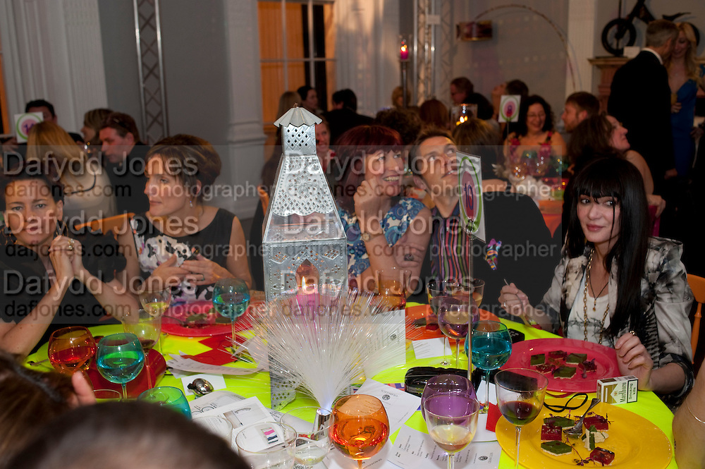SAFFRON BURROWS; JANET STREET-PORTER; JONATHAN TYLER; ANNABELLE NEILSON, The ICA's Psychedelica Gala Fundraising party. Institute of Contemporary Arts. The Mall. London. 29 March 2011. -DO NOT ARCHIVE-© Copyright Photograph by Dafydd Jones. 248 Clapham Rd. London SW9 0PZ. Tel 0207 820 0771. www.dafjones.com.