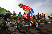 Rudy Molard (FRA - Groupama - FDJ) red jersey, during the UCI World Tour, Tour of Spain (Vuelta) 2018, Stage 9, Talavera de la Reina - La Covatilla 200,8 km in Spain, on September 3rd, 2018 - Photo Luca Bettini / BettiniPhoto / ProSportsImages / DPPI