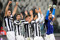 I giocatori della Juventus esultano a fine partita.Torino 09/01/2013 Juventus Stadium.Trofeo Coppa Italia Tim Cup 2011/2012 .Football Calcio Juventus Milan.Foto Insidefoto Giorgio Perottino