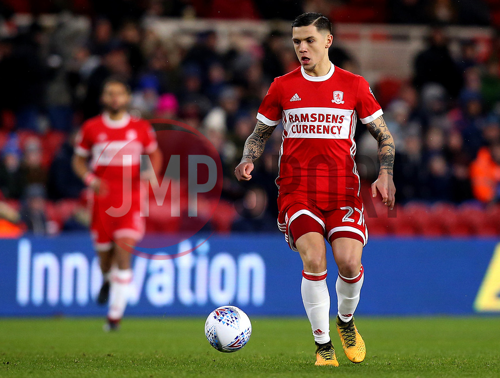 Muhamed Besic of Middlesbrough - Mandatory by-line: Robbie Stephenson/JMP - 02/03/2018 - FOOTBALL - Riverside Stadium - Middlesbrough, England - Middlesbrough v Leeds United - Sky Bet Championship