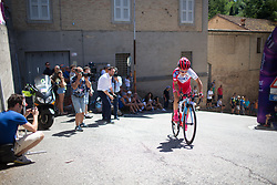 Eri Yonamine (JPN) of FDJ Nouvelle Aquitaine Futuroscope Team rides near the top of the final climb of Stage 5 of the Giro Rosa - a 12.7 km individual time trial, starting and finishing in Sant'Elpido A Mare on July 4, 2017, in Fermo, Italy. (Photo by Balint Hamvas/Velofocus.com)