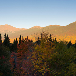 Mount Washington and the Presidential Range in New Hampshire's White Mountains.  Twin Mountain, New Hampshire.  White Mountain National Forest.
