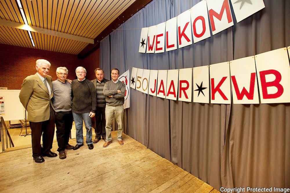 367587-50jaar KWB Bevel-Horemans Willy, Veraert Frans, Vander Auwera René, Nicolay Françoi en Verhoeven Roger-Pz De Heerd Bevel