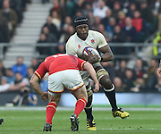 Twickenham. Great Britain.<br /> MARO ITOJE, running with the ball during the <br /> RBS Six Nations Rugby, England vs Wales at the RFU Twickenham Stadium. England.<br /> <br /> Saturday  12/03/2016 <br /> <br /> [Mandatory Credit; Peter Spurrier/Intersport-images]