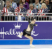 perform during the ladies free skate competition at the U.S. Figure Skating Championships Saturday, Jan. 21, 2017, in Kansas City, Mo. (AP Photo/Colin E. Braley)