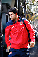 Picture by David Horn/Focus Images Ltd +44 7545 970036<br /> 26/10/2013<br /> Mikel Arteta of Arsenal arriving for the Barclays Premier League match at Selhurst Park, London.