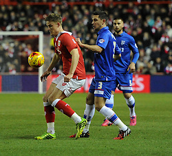 Bristol City's Matt Smith in action during the Johnstone's Paint Trophy south area final second leg match between Bristol City and Gillingham at Ashton Gate on 29 January 2015 in Bristol, England - Photo mandatory by-line: Paul Knight/JMP - Mobile: 07966 386802 - 29/01/2015 - SPORT - Football - Bristol - Ashton Gate Stadium - Bristol City v Gillingham - Johnstone's Paint Trophy