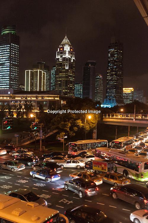 China,Shangai,city center, Dashijie and Yen an road area.
