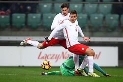 14.11.2016, Stadion Miejski, Wroclaw, POL, Testspiel, Polen vs Slowenien, im Bild Bartosz Bereszynski (POL) Thiago Cionek (POL) Josip Ilicic (SLO) // during the international friendly football match between Poland vs Slovenia at the Stadion Miejski in Wroclaw, Poland on 2016/11/14. EXPA Pictures &copy; 2016, PhotoCredit: EXPA/ Newspix/ Michal Nowak<br /> <br /> *****ATTENTION - for AUT, SLO, CRO, SRB, BIH, MAZ, TUR, SUI, SWE, ITA only*****