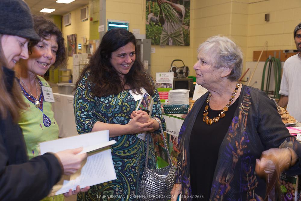 """Michele Landsberg at the launch party of """"share"""", FoodShare's 1st cookbook. Nov. 14, 2012"""