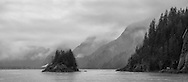 I was out at the Kenai Fjords National Park, Alaska for a marine animal cruise on this particular rainy day. I was not feeling well and the rain didn't help. But the ticket has been bought and so I went. I never expected to see such beautiful silhouette leaving the Holgate Arm glacier.