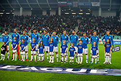 Team Slovenia before football match between National Teams of Slovenia and Cyprus in Final Tournament of UEFA Nations League 2019, on October 16, 2018 in SRC Stozice, Ljubljana, Slovenia. Photo by  Morgan Kristan / Sportida