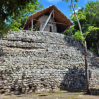 Temple of Paintings at Mayan Ruins in Coba, Mexico<br />