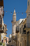 The Mosque of Gazi Husein Pasha in the old town section of Hania, Crete, Greece