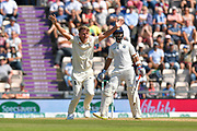 Not Out - Sam Curran of England appeals for an lbw against Ajinkya Rahane of India but he is given not out after review during the 4th day of the 4th SpecSavers International Test Match 2018 match between England and India at the Ageas Bowl, Southampton, United Kingdom on 2 September 2018.