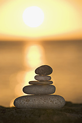Jun. 20, 2009 - A stone stack against a setting sun. Not Released (NR) (Credit Image: © Cultura/ZUMAPRESS.com)