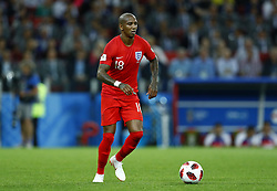 July 3, 2018 - Moscow, Russia - Round of 16 England v Colombia - FIFA World Cup Russia 2018.Ashley Young (England) at Spartak Stadium in Moscow, Russia on July 3, 2018. (Credit Image: © Matteo Ciambelli/NurPhoto via ZUMA Press)