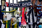 Tributes to the late Cyrille Regis during the Premier League match between West Bromwich Albion and Southampton at The Hawthorns, West Bromwich, England on 3 February 2018. Picture by Dennis Goodwin.