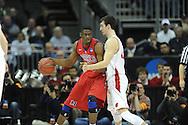 Ole Miss' Reginald Buckner (23) vs. Wisconsin's Frank Kaminsky (44) in the NCAA Tournament at the Sprint Center in Kansas City, Mo. on Friday, March 22, 2013.