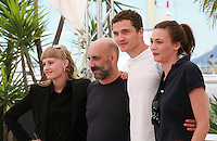 Actress Klara Kristin, director Gaspar Noé, actor Karl Glusman and actress Aomi Muyock at the Love film photo call at the 68th Cannes Film Festival Thursday May 21st 2015, Cannes, France.