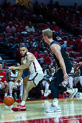 NORMAL, IL - October 23: Lijah Donnelly guarded by Alex McQuinn during a college basketball game between the ISU Redbirds and the Truman State Bulldogs on October 23 2019 at Redbird Arena in Normal, IL. (Photo by Alan Look)