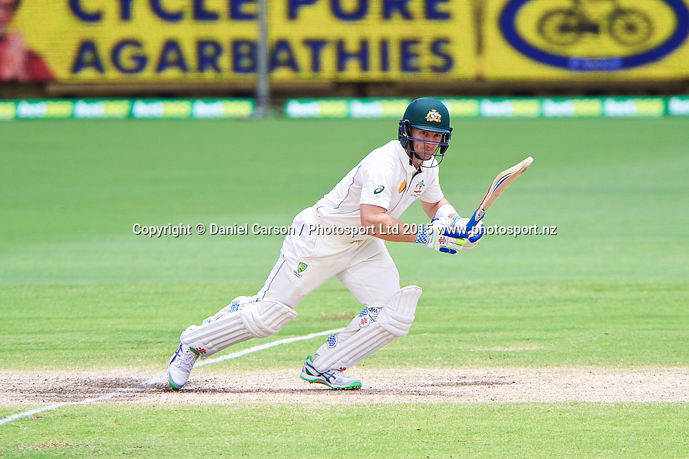 Peter Nevill of Australia sets off for a run during Day 5 on the 17th of November 2015. The New Zealand Black Caps tour of Australia, 2nd test at the WACA ground in Perth, 13 - 17th of November 2015.   Photo: Daniel Carson / www.photosport.nz