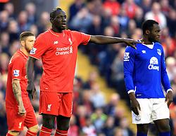 Mamadou Sakho of Liverpool points - Mandatory by-line: Matt McNulty/JMP - 20/04/2016 - FOOTBALL - Anfield - Liverpool, England - Liverpool v Everton - Barclays Premier League