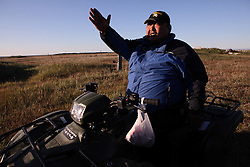 USA ALASKA POINT HOPE 22JUL12 - Steve Oomittuk, major and native of Point Hope, North Slope Borough, Alaska. ..Point Hope is one of the oldest continually occupied sites in North America.....© Jiri Rezac / Greenpeace....Photo by Jiri Rezac / Greenpeace