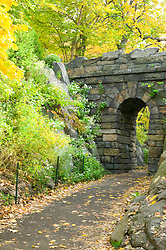 RAMBLE ARCH in Autumn, Central Park