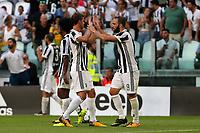 19.08.2017 - Torino - Serie A 2017/18 - 1a giornata  -  Juventus-Cagliari nella  foto: Daniele Rugani e Gonzalo Higuain esultano dopo il gol