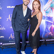 NLD/Hilversum/20190521 - Premiere Aladdin Gala Night, Rolf Sanchez en partner Sophia Mason