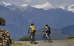 October 4, 2018 - Himachal Pradesh, India - Joachim and Kim of Germany (Team of Two) competes at the 14th edition of the Hero MTB Himalaya mountain bike race in the northern Indian state of Himachal Pradesh on 4th  October, 2018. The 14th edition of the annual cross country race is taking place over eight stages in the foothills of the Himalaya, started in Shimla on September 28, 2018 and finishing in Dharamshala on October 6,2018. (Credit Image: © Indraneel Chowdhury/NurPhoto/ZUMA Press)