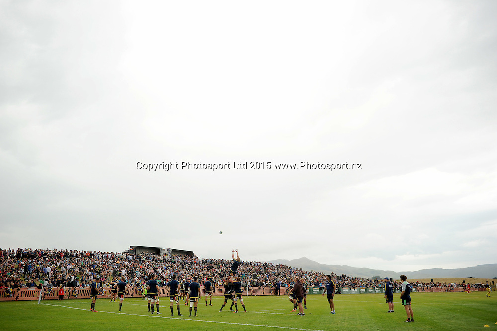 A general view of Fred Booth Park, prior to the Farmlands Cup match between the Highlanders and the Crusaders, held at Fred Booth Park, Gore, New Zealand, 11 February 2016. Copyright Image: Joe Allison / www.Photosport.nz