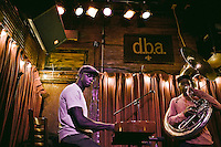 Blues band performs at D.B.A. on Frenchman Street in New Orleans,LA.  Copyright 2011 Reid McNally