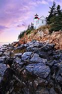 Sundown After A Storm At The Bass Harbor Head Light, Acadia National Park, Maine, USA